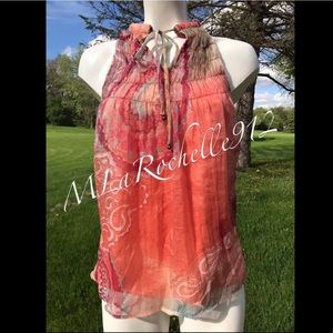 New! ADIVA coral blouse tank top